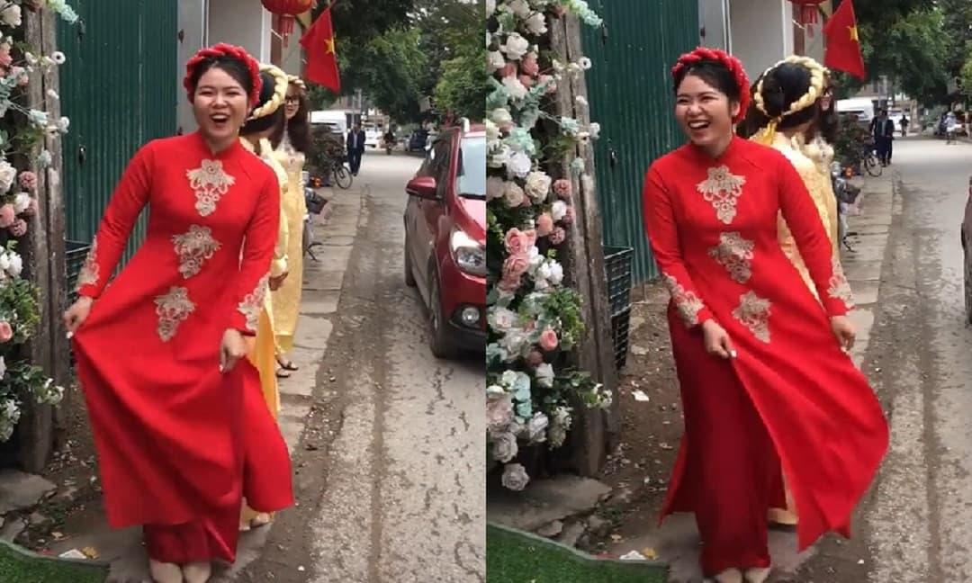Cô dâu U30 hét lên sung sướng: 'Bố mẹ ơi con lấy được chồng rồi' khiến cả rạp bật cười