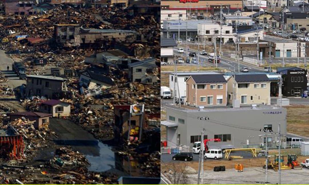 10 năm sau thảm họa động đất và sóng thần ở Nhật Bản: Xem những bức ảnh trước và bây giờ để thấy sự thay đổi ngoạn mục