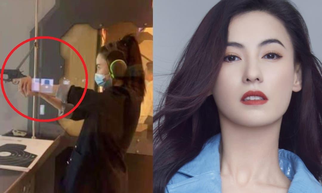 Trương Bá Chi khoe thú vui bắn súng cực 'ngầu', gián tiếp phủ nhận tin đồn mang thai lần 4