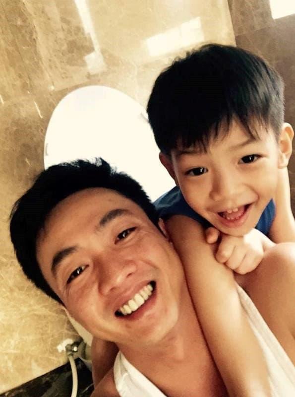 Khoảnh khắc Cường Đô La đón Subeo đi học về nhận bão like, con trai riêng cao gần bằng bố 4