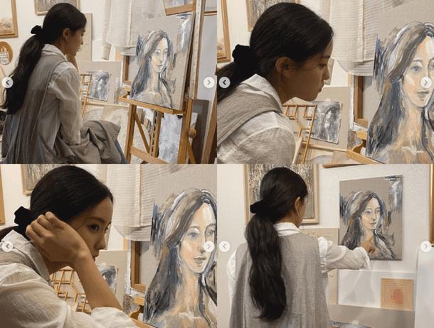 'Hoàng hậu Ki' Ha Ji Won nhận gạch đá vì bán tranh với nét vẽ thua cả trẻ con mẫu giáo, bị so sánh với Goo Hye Sun 8