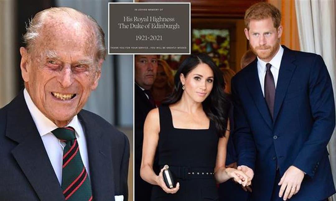 Vợ chồng Meghan bị 'ném đá' vì lời chia buồn vô cảm về Hoàng thân Philip: 'Thua cả người xa lạ như ông Obama'