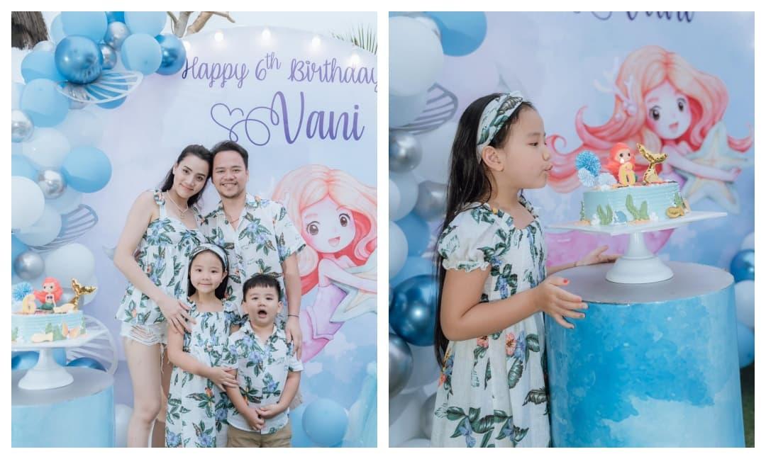 Trang Nhung tổ chức sinh nhật trên bãi biển mừng con gái cưng tròn 6 tuổi