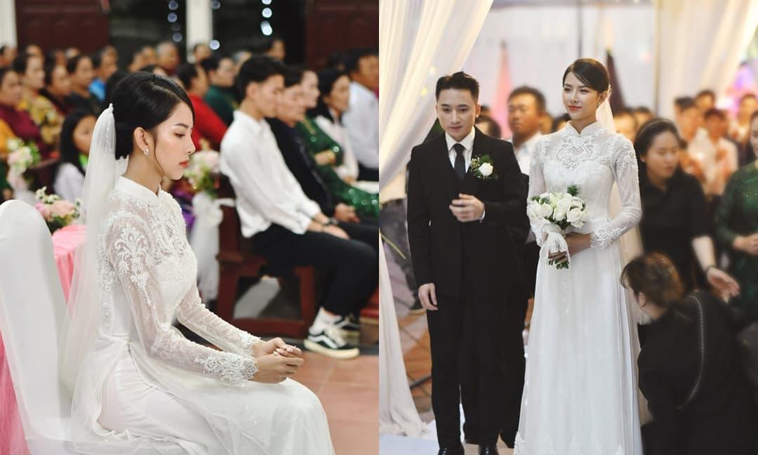 Cận cảnh nhan sắc cô dâu của Phan Mạnh Quỳnh trong ngày cưới: Mặt siêu xinh, vóc dáng diện áo dài siêu đỉnh