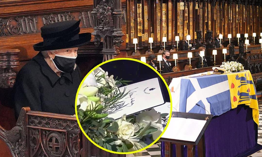 Hé lộ chi tiết ngọt ngào trong bức thư tay Nữ hoàng đặt lên linh cữu chồng cùng kỷ vật đặc biệt bà giữ trong túi suốt tang lễ