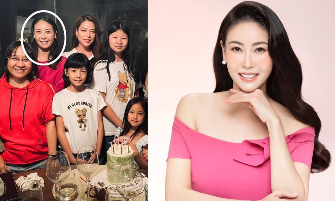 Trương Ngọc Ánh đăng ảnh sinh nhật mẹ nhưng vô tình để lộ nhan sắc thật của HH Hà Kiều Anh