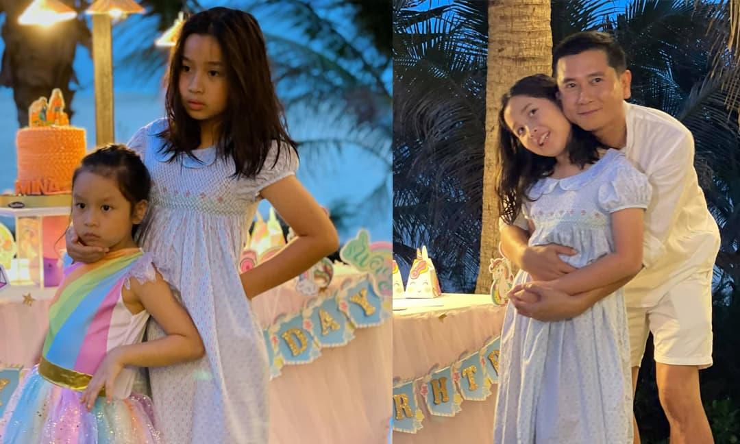 Vợ chồng Hồ Hoài Anh - Lưu Hương Giang 'chơi lớn', đặt khu riêng biệt để mừng sinh nhật hai con gái