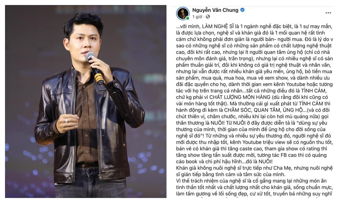 Giữa scandal 'khán giả không nuôi nghệ sĩ', Nguyễn Văn Chung vạch ra tư tưởng sai lệch mà hiếm sao Việt nào nhận ra