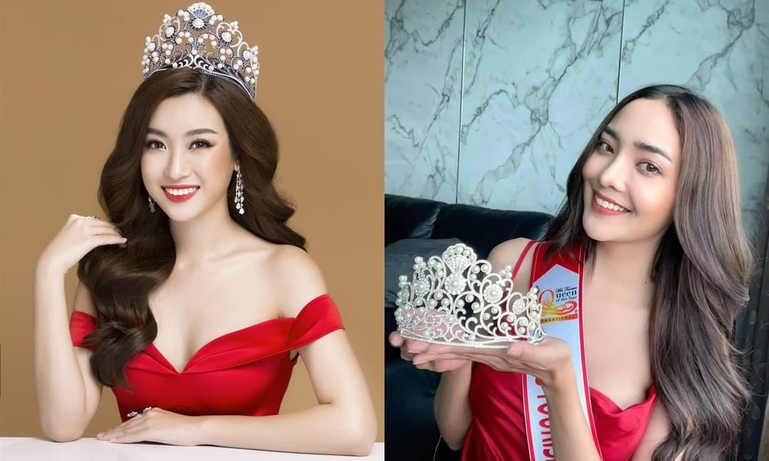 Nghi vấn vương miện của Hoa hậu Đỗ Mỹ Linh bị Hoa hậu Thái Lan 'đạo nhái' thiết kế?