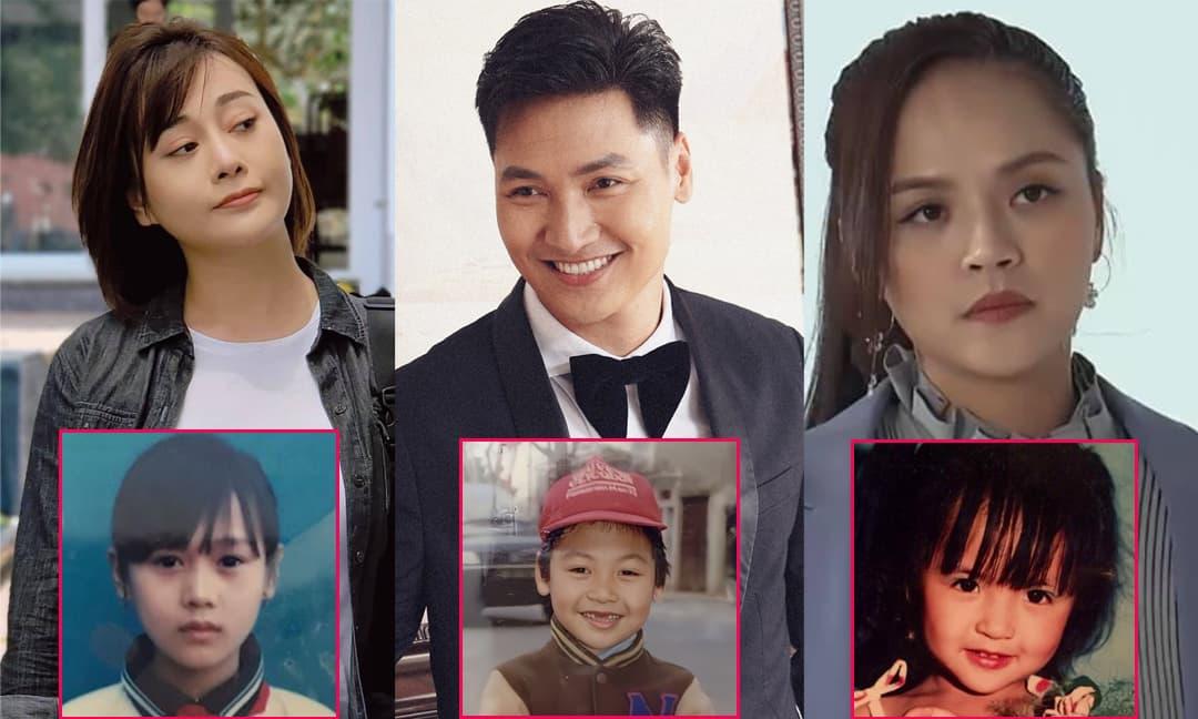 Ngắm ảnh hồi nhỏ của dàn diễn viên 'Hương vị tình thân': Mạnh Trường sún răng, Thu Quỳnh xinh như búp bê