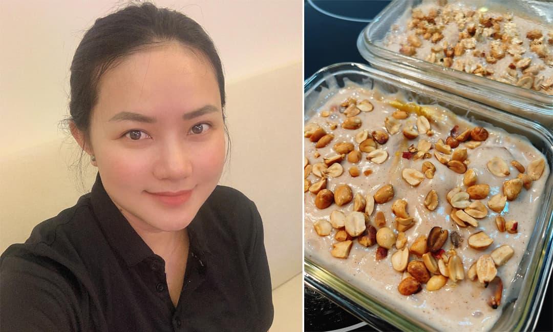 Phan Như Thảo chia sẻ công thức làm kem chuối vị quế cho người đang giảm cân