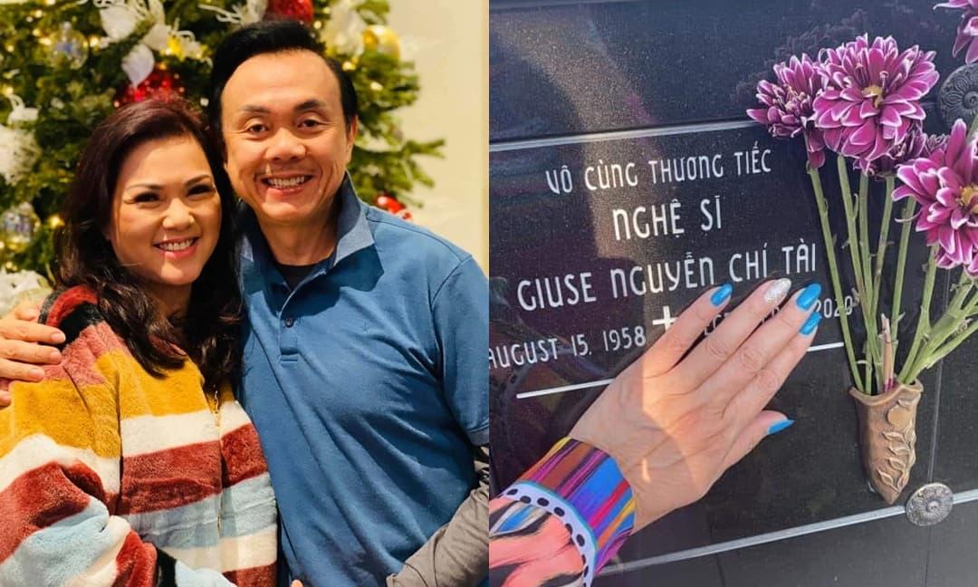 Sau 7 tháng kể từ ngày Chí Tài qua đời, Phương Loan vẫn đều đặn đến thăm chồng nhưng hành động đặc biệt này mới làm nhiều người xót xa