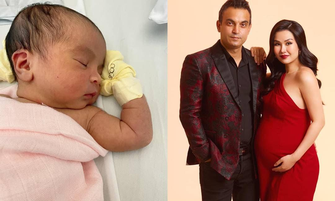 Võ Hạ Trâm khoe cận mặt con gái cưng lai Ấn Độ tròn 14 ngày tuổi và kèm tâm thư đầy ngọt ngào