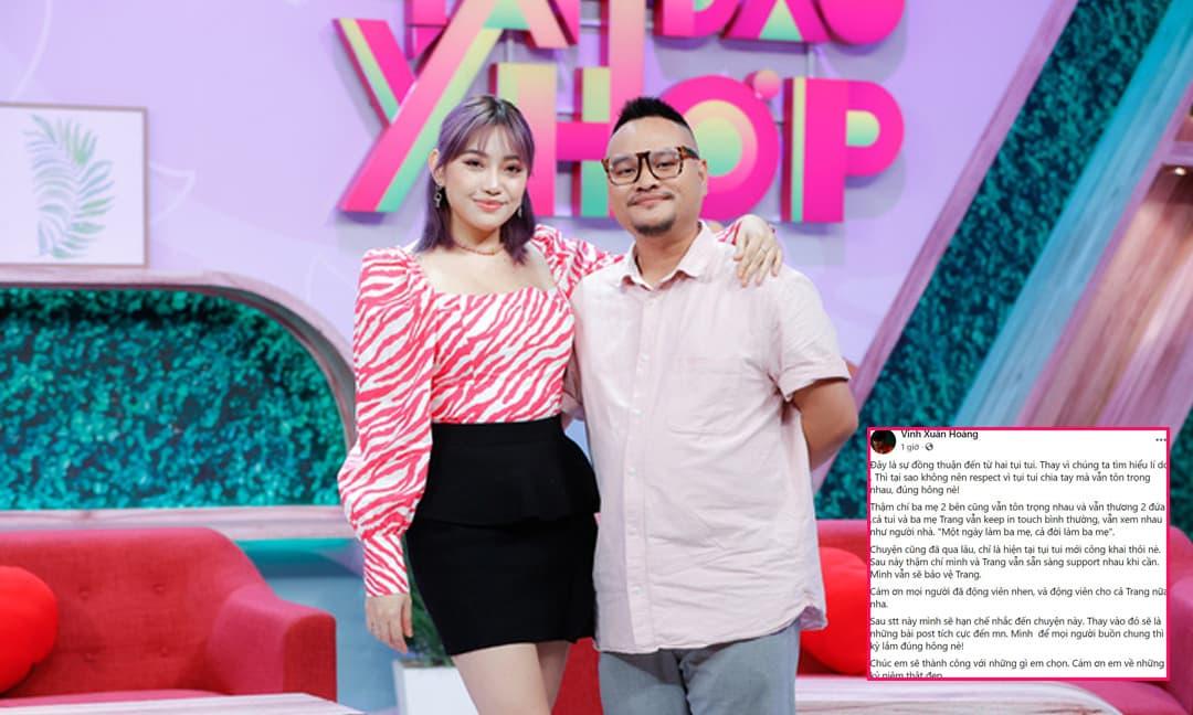 Vinh Râu 'ẩn ý' hôn nhân tan vỡ với Lương Minh Trang từ lâu, hứa sẽ luôn bảo vệ vợ cũ dù ly hôn?