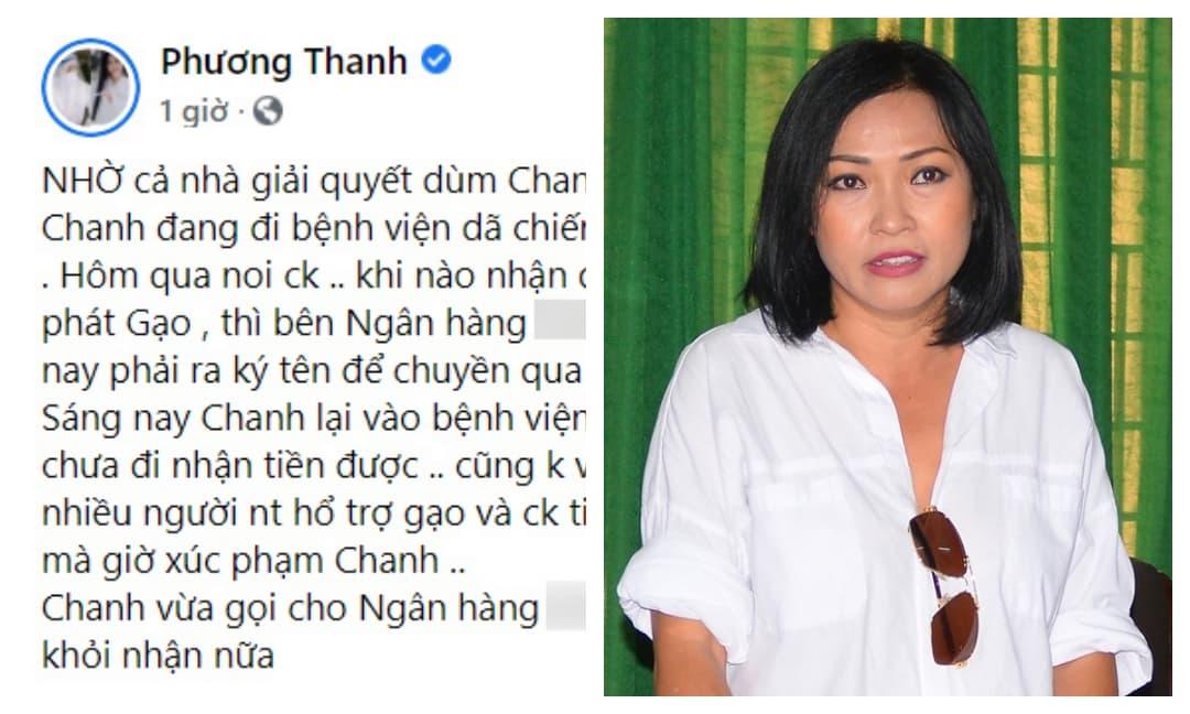 Phương Thanh bức xúc đòi chuyển khoản lại khi bị một Việt kiều tố lừa đảo tiền từ thiện