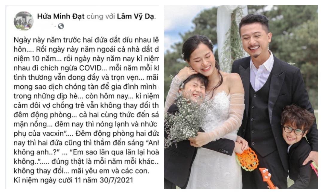 Hứa Minh Đạt kỉ niệm 11 năm ngày cưới với Lâm Vỹ Dạ bằng cách cực độc