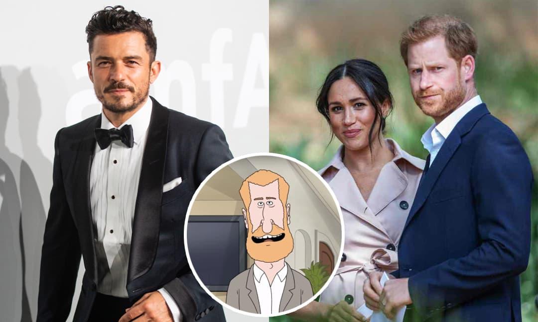 Orlando Bloom lo lắng sẽ làm mất lòng Harry khi lồng tiếng bộ phim hoạt hình chế giễu Hoàng gia Anh của Cartoon Network