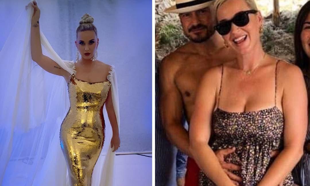Katy Perry bị nghi ngờ bầu bí lần hai khi lộ vòng 2 phát tướng, được Orlando Bloom ôm ấp không rời