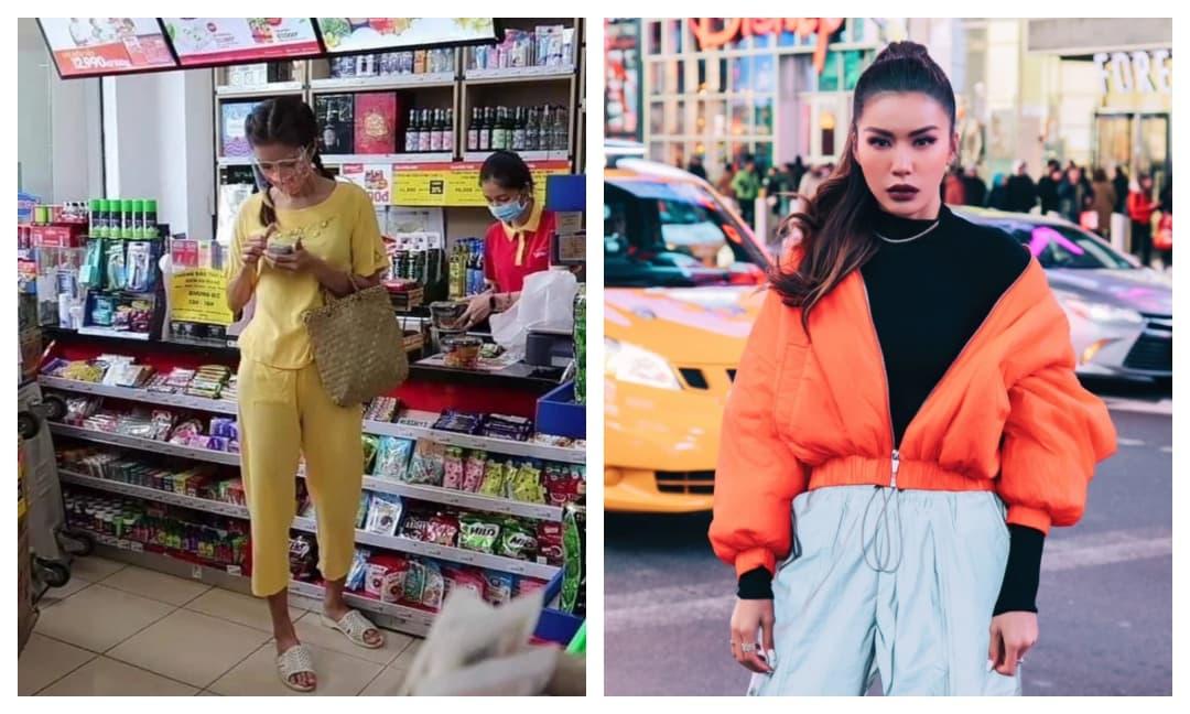 'Té ngửa' với hình ảnh Minh Tú bị dân mạng chụp được khi đi siêu thị: Da ngăm đen, chân dài quần lửng, đi dép tổ ong