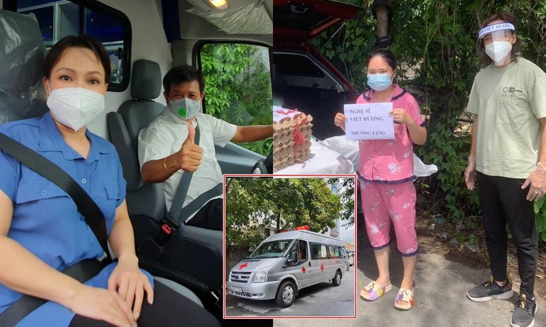 Hoài Phương lên tiếng động viên bà xã Việt Hương khi bị chỉ trích 'trù người khác ốm' vì tặng xe cứu thương