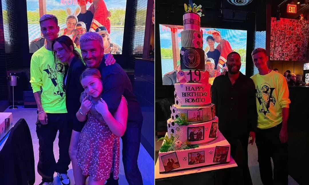 Cậu thứ nhà Becks được tổ chức sinh nhật 'khủng' với chiếc bánh khổng lồ nhưng mọi sự chú ý lại đổ dồn vào cô út Harper