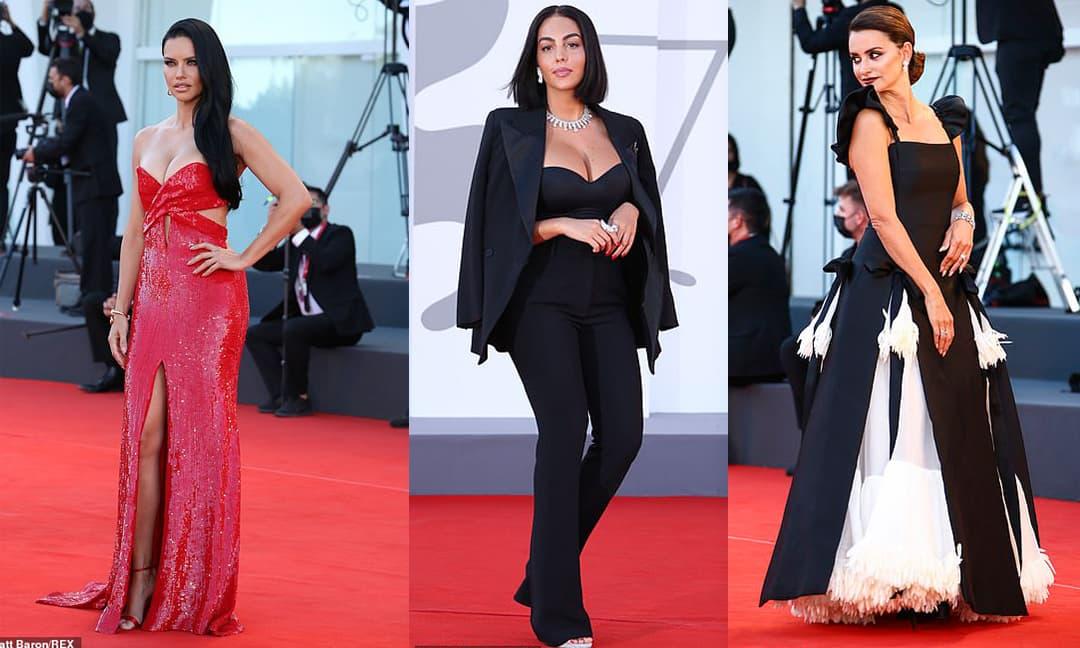 Thảm đỏ LHP Venice: Bạn gái Ronaldo diện áo trễ nải để khoe vòng cổ kim cương cỡ 'khủng', tình cũ Tom Cruise đẹp rực lửa ở tuổi U50