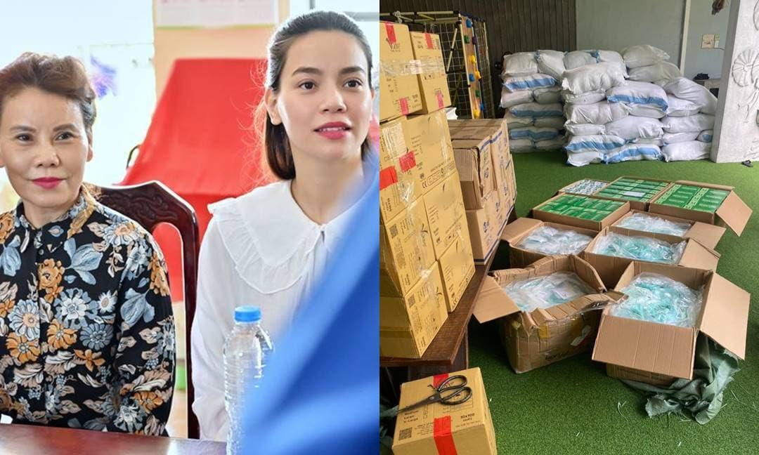 Sau loạt lùm xùm sao kê tài khoản, mẹ Hà Hồ bận rộn từ thiện gửi lương thực giữa mùa dịch