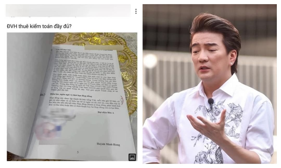Mạng xã hội lại rộ lên hợp đồng của Đàm Vĩnh Hưng với một công ty kiểm toán?
