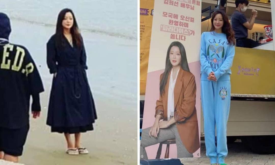 Sau khi bị tung ảnh chân ngắn một mẩu, 'Đệ nhất mỹ nhân Hàn' chơi luôn cây xanh vừa hack tuổi vừa giúp kéo dài chân