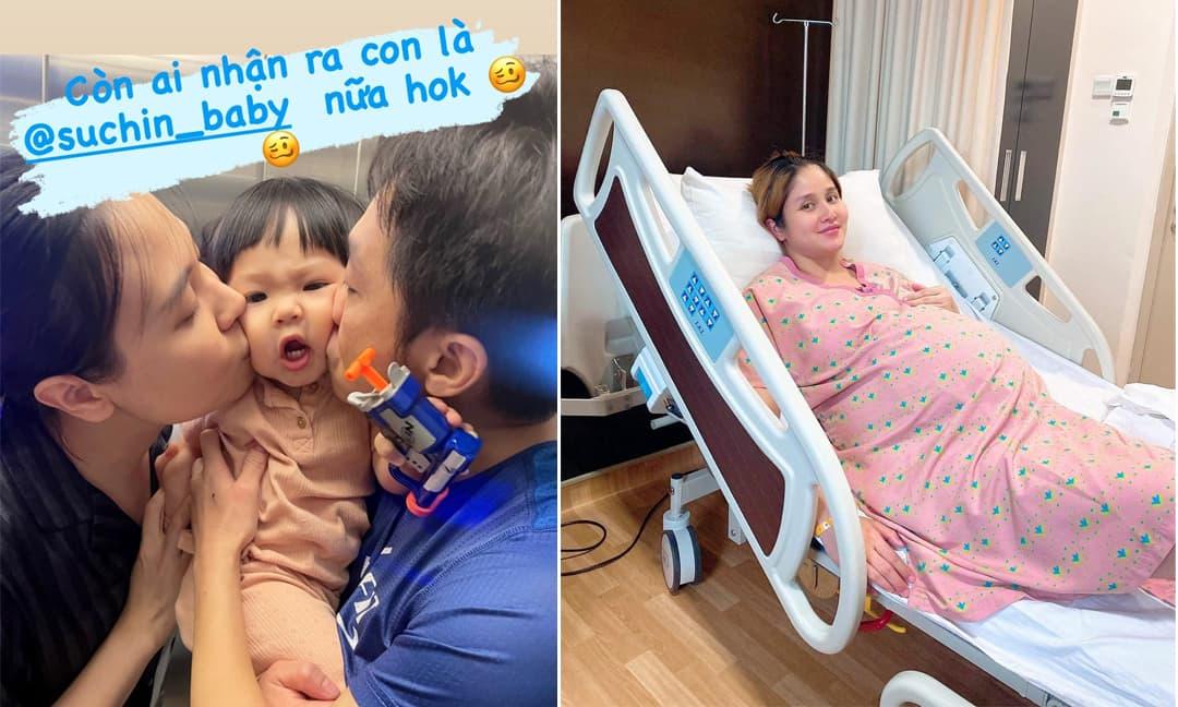Sao Việt 25/9: Biểu cảm cực hài của con gái Cường Đô la khi được bố mẹ hôn; Huỳnh Thảo Trang hé lộ hình ảnh đi sinh con nặng 85 kg
