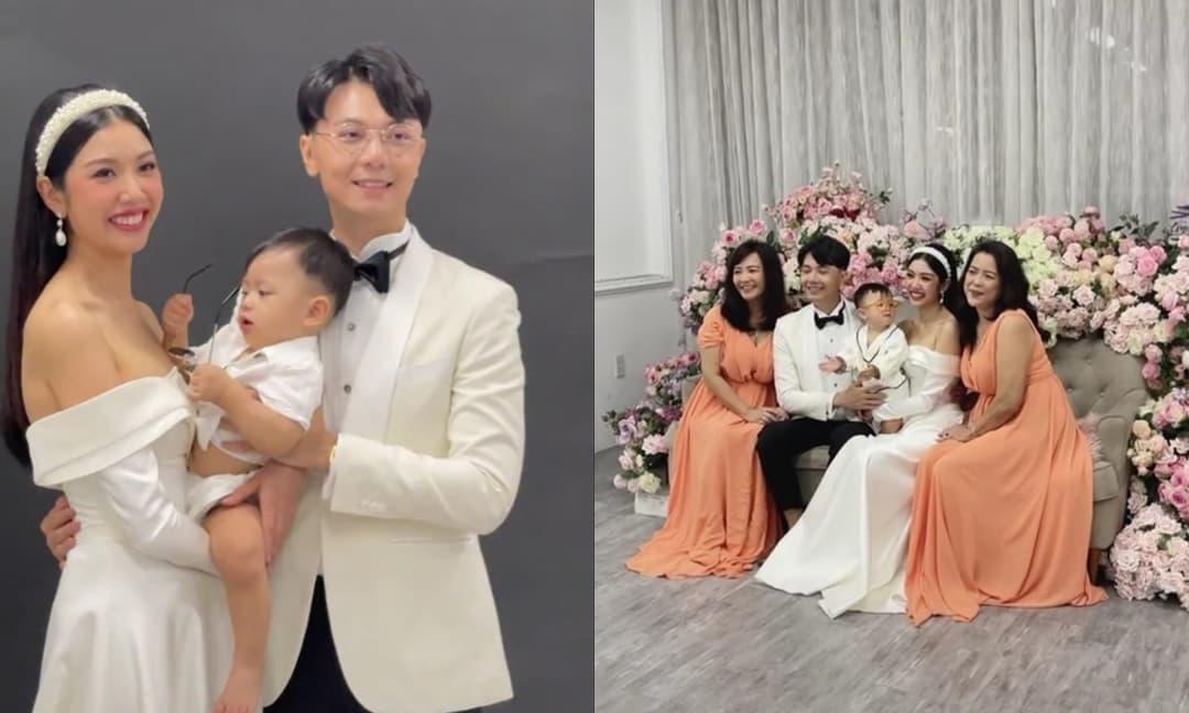 Hậu trường buổi chụp ảnh nhân dịp tròn 1 tuổi của quý tử nhà Thúy Vân: Cả gia đình quá đẹp, Nhật Tôn ngày càng giống bố