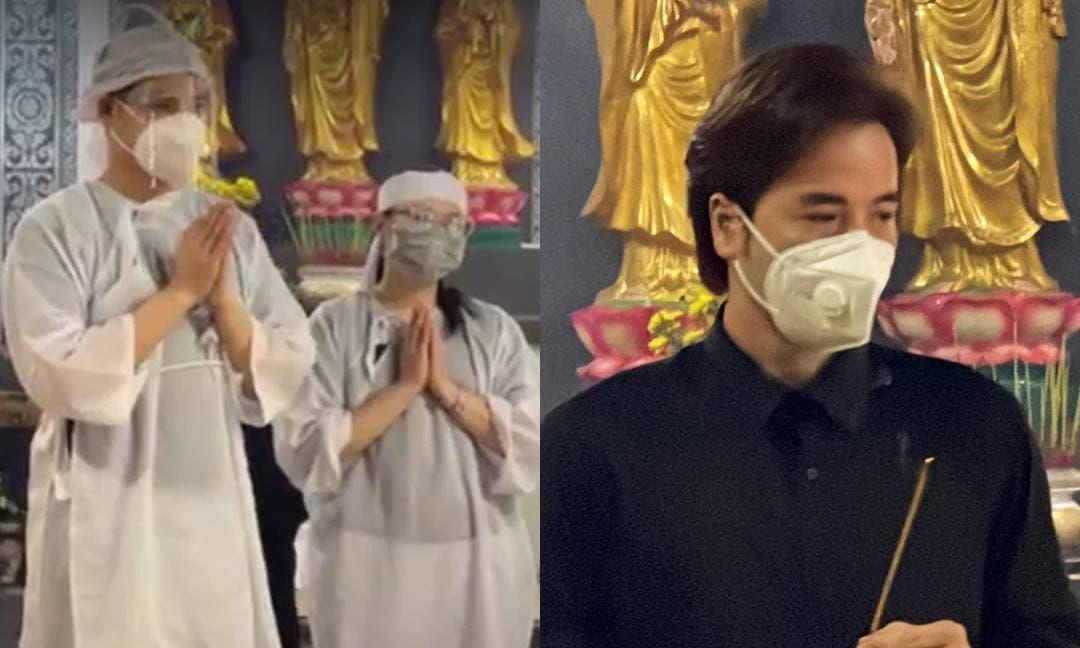 Tang lễ của đạo diễn Trần Cảnh Đôn: Bà xã gắng gượng tiếp đón đồng nghiệp, hai con buồn bã đáp lễ mọi người
