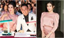 Huyền My diện váy hồng quyến rũ, sánh vai Hồng Đăng trên ghế giám khảo