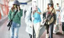 Chẳng lồng lộn như người ta, Triệu Vy nghiện ăn mặc bụi bặm ở chốn phi trường
