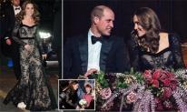 Công nương Kate gây choáng khi lộ tấm lưng trần đầy táo bạo trong chiếc váy ren khiến chồng cũng phải chủ động yêu chiều