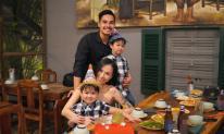 Baggio đón sinh nhật bên vợ và hai con sinh đôi
