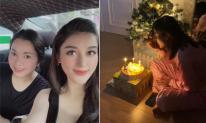 Huyền My đón sinh nhật giản dị, mẹ ruột tiết lộ ngày bé cô nàng sinh thiếu tháng phải nằm lồng kính