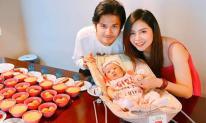 Diễn viên 'Gạo nếp gạo tẻ' Vũ Ngọc Ánh mừng đầy tháng con đầu lòng