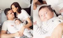 Phương Mai khoe ảnh chụp gia đình, biểu cảm của cậu ấm lại chiếm trọn spotlight
