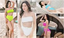 Bảo Thy 'chơi chiêu' photoshop một bộ bikini thành 4 màu khác nhau để mặc sức sống ảo