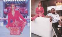 Kim Kardashian diện nguyên cây đỏ ăn mừng ông xã tranh cử Tổng thống Mỹ