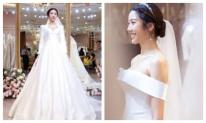 Thuý Vân chính thức hé lộ váy cưới lộng lẫy, gợi cảm hết nấc