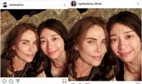 Minh tinh Charlize Theron đăng ảnh chụp cùng Ngô Thanh Vân lên Instagram cá nhân