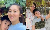 Lê Phương đưa cả gia đình về thăm nhà chồng, mối quan hệ giữa mẹ chồng và con riêng của nữ diễn viên gây chú ý