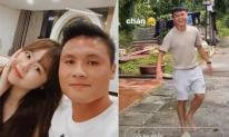Huỳnh Anh check-in ở nhà Quang Hải, quay cảnh bạn trai chơi trò ném dép cực lầy