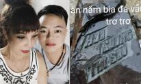 'Cô dâu 62 tuổi' ở Cao Bằng khắc tên của mình và chồng trẻ lên bia đá đặt ở nhà mới