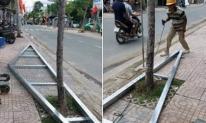 Tình huống trớ trêu của ông chú thợ hàn: Không biết nên chặt cái cây hay phá khung nhôm?