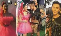 'Nữ thần gợi cảm gốc Việt' Chung Lệ Đề 'làm đỏm' bên chồng kém 12 tuổi trong tiệc sinh nhật