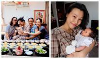 Á hậu Hoàng Oanh lần đầu chia sẻ ảnh bản thân và con trai khi tròn tháng
