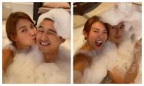Mừng sinh nhật ông xã Lương Thế Thành, Thúy Diễm tung ảnh 2 vợ chồng đắm mình trong bồn tắm